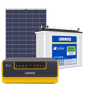 luminuos 1kva 12v inverter, 150ah 12v battery, 200ah polycrystalline